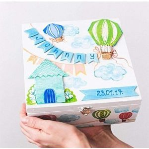 "Baby boy keepsake box ""Gift for newborn""'"