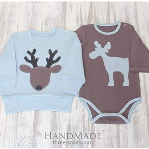 "Baby boy outfits ""Moose Bullwinkle"""