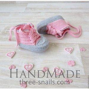 Baby crochet booties