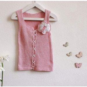 "Baby crochet top ""Lilac"""