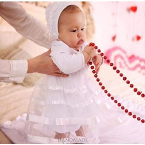 Baby girl baptismal dress «Small Lady»