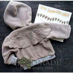 """Baby girl hoodie """"Snow angel"""""""