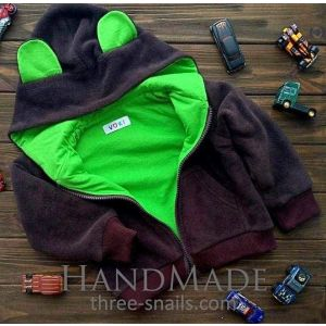 "Baby hoodie with ears ""Teddy bear"""