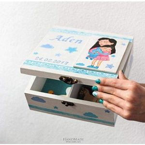 "Baby keepsake box ""Gift for newborn""'"