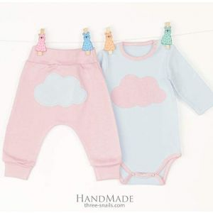 Baby set with bodysuit Clouds