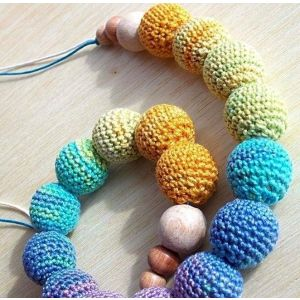 "Baby teething necklace ""Rainbow"""