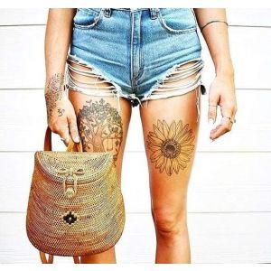 Bali rattan backpack