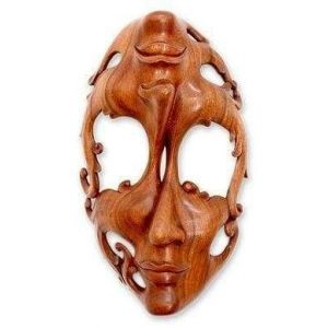 Balinese hand carving wooden mask
