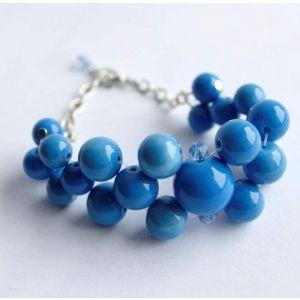 "Bead bracelet ""Blue sky"""