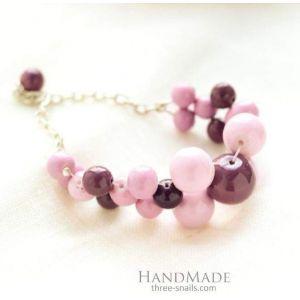 "Bead bracelets ""Lilac"""