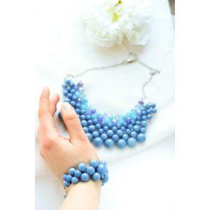 "Bead jewelry set ""Polly"""