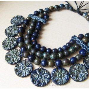 "Bead necklace ""Breeze"""