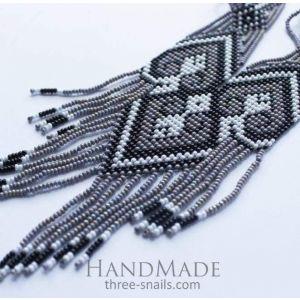 "Bead necklaces ""Gray singularity"""