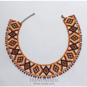 """Bead necklaces """"Orange mood"""""""
