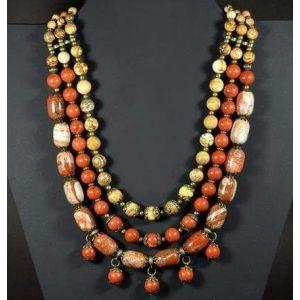 "Bead necklaces ""Stone dance"""