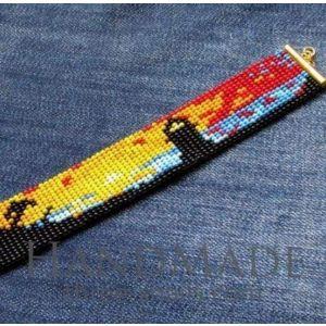 """Beaded bracelets for women """"Lighthouse at the shore"""""""