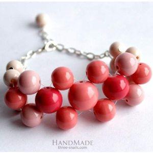 "Beaded bracelets ""Raspberry"""
