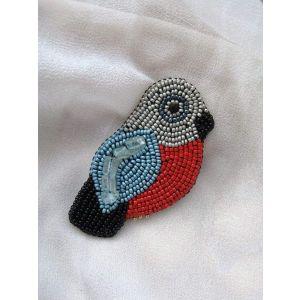 """Beaded brooch """"Lucky bird"""""""