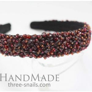 "Beaded headband ""Luxury"""