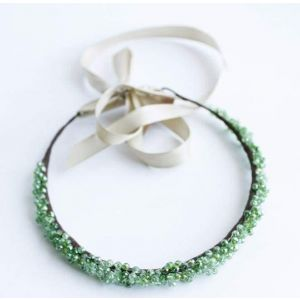 "Beaded headbands ""Spring drip-drop"""