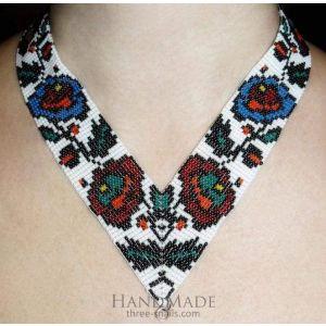 "Beaded necklace (gerdan) ""Spring bouquet"""