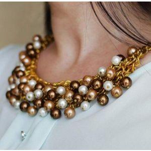 "Beaded necklace ""Oskar gold"""