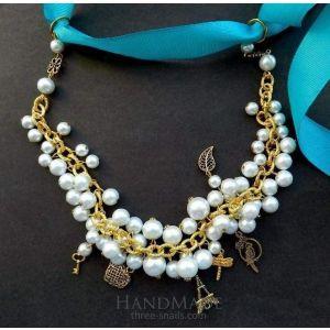 """Beaded necklace """"Sea-breeze"""""""