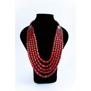 """Beaded necklaces """"Red corals"""""""