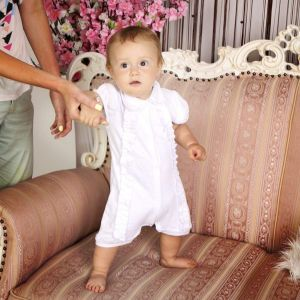 "Beautiful baby clothes for girls. Bodysuit ""Amur"""