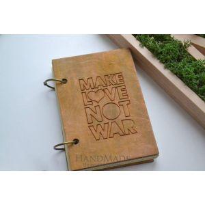 Beautiful journals Make love not war