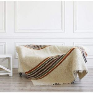 """Bed throw """"Multicolored stripes"""""""