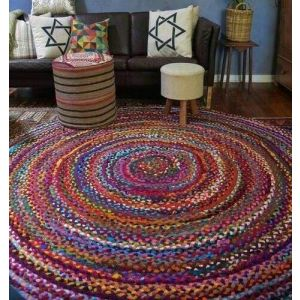 Bedroom small braided rug