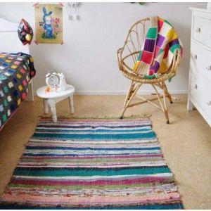 Bedside woven rug