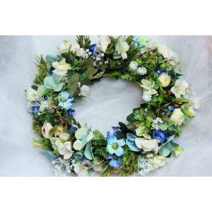 "Big green floral halo ""Summer field"""
