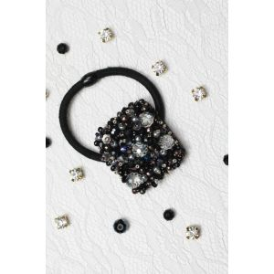 "Black hair tie ""Diamond"""