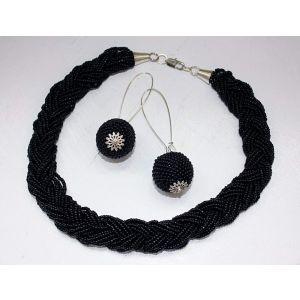 "Black jewelry set ""Black Oceanid"""