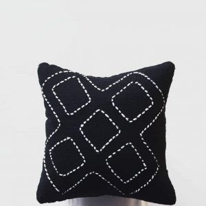 Black stitch pattern pillow case