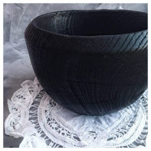 Black wooden bowl