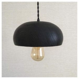 Black wooden chandelier