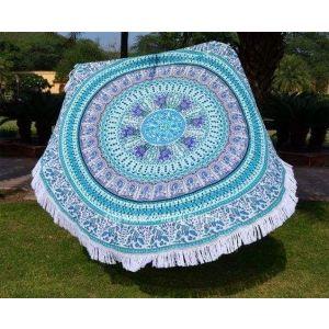 Blue beach blanket