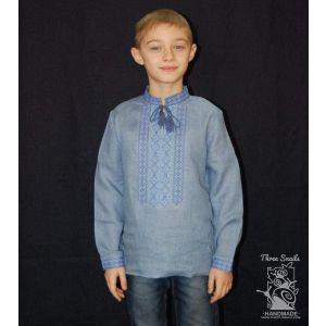 """Boy blue shirt """"Linen Skies"""""""