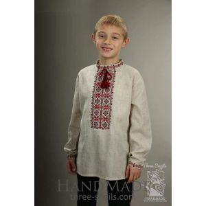 """Boys linen shirt  """"Cherry cream"""""""