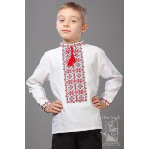 "Boys white shirt ""Colorful bluming"""