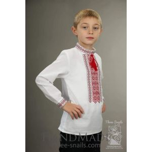 "Boys white shirt ""Cotton soft"""