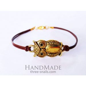 Bracelet with String «Small Owl»