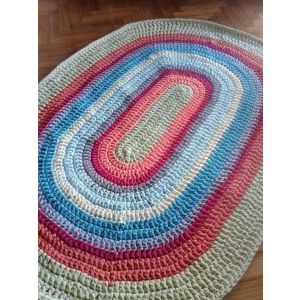 Braided oval rug