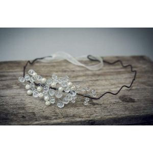 "Bridal headpieces. Hair band ""Tender winter"""