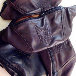 "Brown bag on the belt (banana bag) ""Wild Cat"""