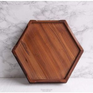 Brown hexagon tray