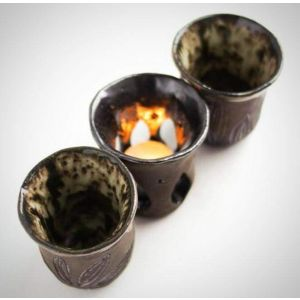 "Candleholder ceramic set ""Secret"""